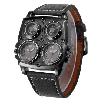 Harga OULM Military Army Leather Strap Sports Watch Men