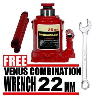 Harga Prostar 20 Ton Hydraulic Jack - Bottle Type (Red) item No.: BJ2001 with Free Venus Combination Wrench 22 mm