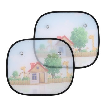 Harga leegoal 2pcs Universal Car Window Sun Shades Baby Car Sunshades Blocks Harmful UV Rays Sun Glare Heat - intl