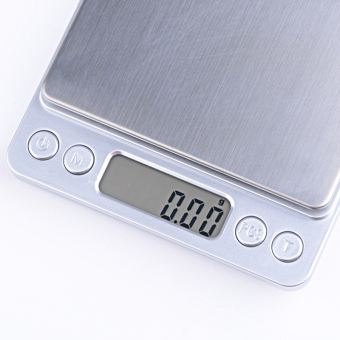 500g x 0.01g Digital Jewelry & Kitchen Precision Scale 1 W/Piece Counting ACCT-500 .01 gram with Salver (White) - intl Price Philippines