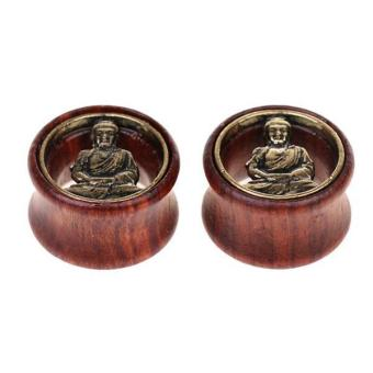 MagiDeal Rustic Buddha Wood 8-20mm Ear Plug Tunnel Stretcher Piercing Decoration 16mm - intl Price Philippines