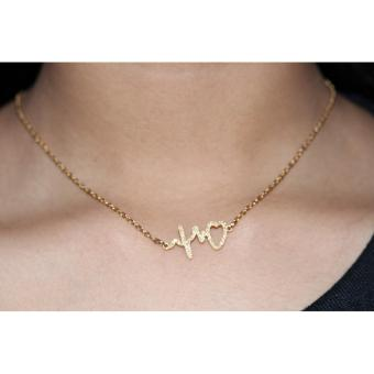 Harga Heart Beat Gold-plated pendant Necklace