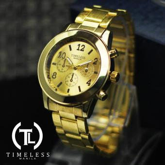 Timeless Manila Caitlyn Chrono Metal Watch (Gold) Price Philippines