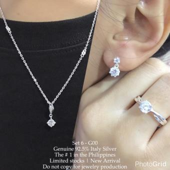 Harga Silver Kingdom PH Tiffany Jewelry Set V12