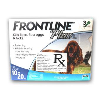 Harga Frontline Spot On Plus Tick and Flea for Dogs (10-20kg)