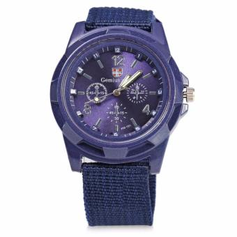 Harga GEMIUS ARMY Military Sport Style Army Men's Blue Canvas Strap Watch