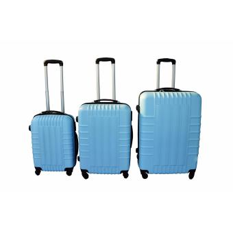 "FireBars Case Travel Luggage F-8001 set of 3 size (20""/24""/28"") Sky Blue Price Philippines"