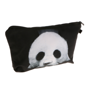 Harga MagiDeal Panda Printed Toiletry Makeup Travel Organizer Pouch