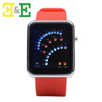 GENEVA KC09 Binary Unisex LED Silica Gel Electronic Watch (Red) Price Philippines