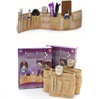 Harga Purse Brite Lighted Purse Bag Handbag Organizer (Brown)