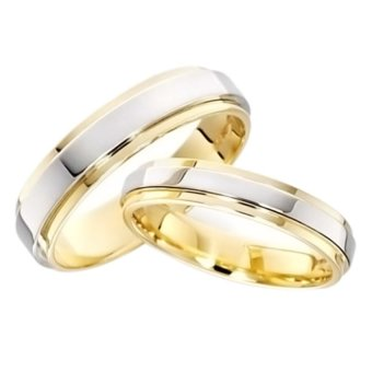 Harga Jewels & Me Jade Couple Wedding Ring (Two Toned)