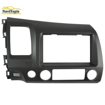 Harga NAVITOPIA 178*102MM Car Radio Fascia for Honda Civic (LHD, with SRS hole) 2008-2011 2DIN AutoStereo Panel kit CD Trim - intl