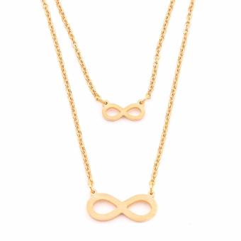 Harga J&J Infinite Layered Infinity Chain Necklace (Gold)
