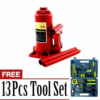 Harga Prostar 6 Ton Bottle Jack with Free 13 pcs Tool Set