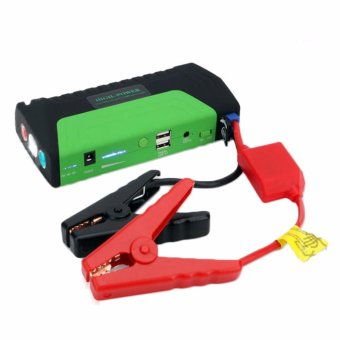 PINOY PUFF 50,800MAH Portable 12 Volt Car Battery Jump Starter and Power Bank Include Premium Recoil-Free Jumper Cables/Laptop and Smartphone Charging Cables(black/green) Price Philippines