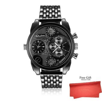 Harga 2017 OULM Fashion Brand Three machine core Men's Business Watches - intl