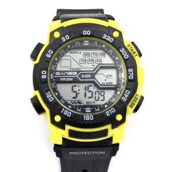 Harga Sanse Water Resistant Uni-sex Watch TPU resin Strap-628 Yellow