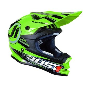 Harga Just 1 by Nitek Motard 0002 Raptor Helmet (Green)