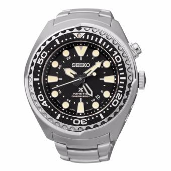 Harga Seiko Prospex SUN019 Kinetic GMT Divers Men's Stainless Watch