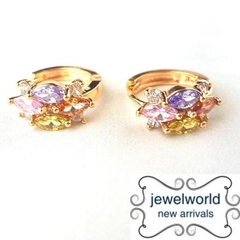 Jewelworld Multi Gem 18k Bangkok Cubic Zircon Earrings (gold) Price Philippines