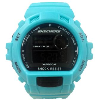 Harga Skechers Complex Color Blue Polyurethane Strap Watch 71112