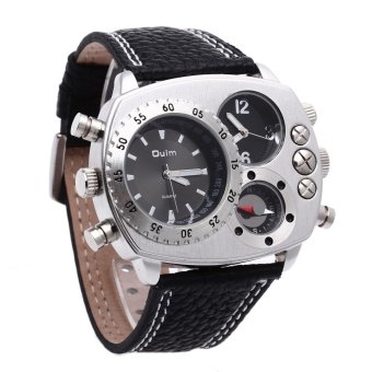 Harga OULM Military Army Leather Strap Quartz Movement Sports Watch Men