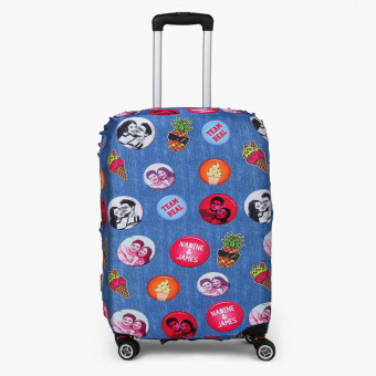 Harga Travel Basic Team Real Large Luggage Cove (Blue Patches)