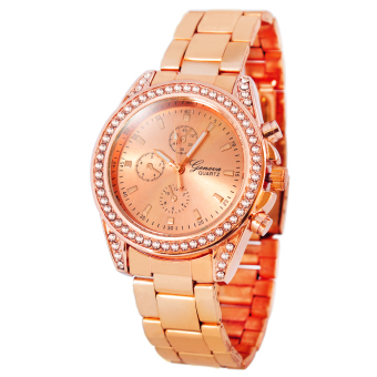 Harga Geneva Miley Stainless Steel Watch BUS102 (Rose Gold)