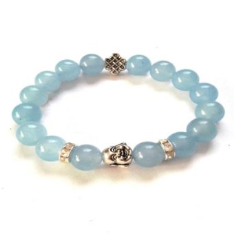 Be Lucky Charms Feng Shui Laughing Buddha With Mystic Knot Bracelet (Aquamarine Silver Plated) Price Philippines