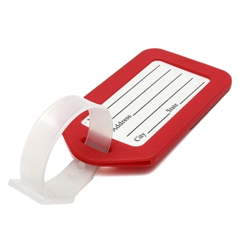 Harga Red Plastic Luggage Baggage Tags Label Tag Striped Bag Tags