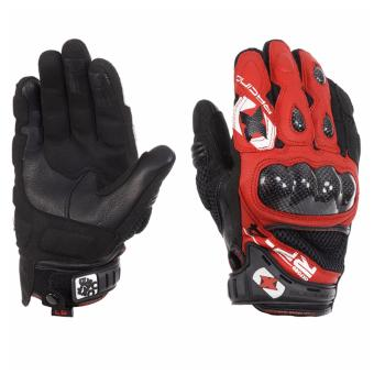 Harga Oxford GM201 RP-4 Leather Mesh Short Gloves (Red/Black)