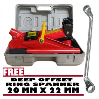 Harga Prostar 2 Ton Floor Jack 300 mm Max Lift with Free Venus Wrenc 20 x 22 mm