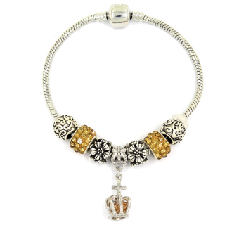 Venice Jewelry Royal's Crown Charm Bracelet ( Golden Brown) Price Philippines