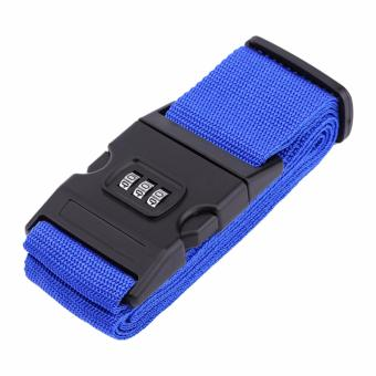 Harga Suitcase Luggage Baggage Strap with Coded Lock (Blue)