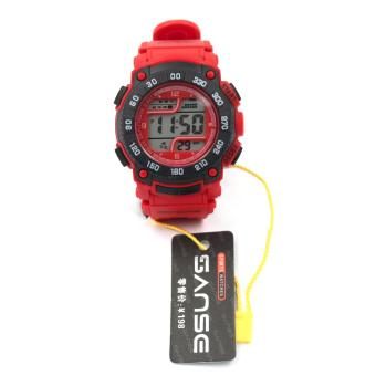 Harga Sanse Uni-sex Watch TPU resin Strap-622 Black/Red