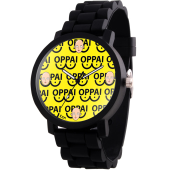 ANIME ZONE Fancy Saitama Oppai One-Punch Man Trendy Rubber Strap Anime Watch (Black) Price Philippines
