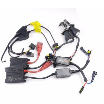 Harga R8 H4 H/L Car 35W 10000K HID Xenon Bulbs Light with Ballasts Wire Harnes Kit