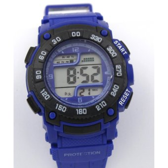 Harga Sanse Water Resistant Kid's Watch TPU resin Strap s-621 D.Blue