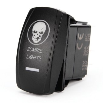 IZTOSS 5Pin Car Zombie Lights Rocker Switch w/ Blue LED (20A 12V / 24V 10A) Price Philippines