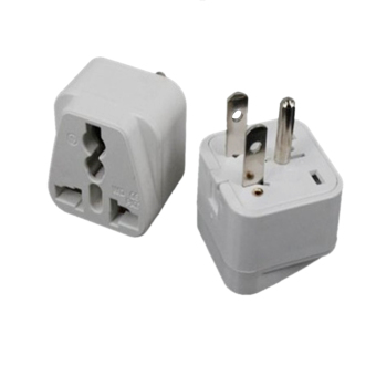BolehDeals 3-Prong AU EU UK To US Canada Plug Adapter Travel Adaptor with Side Jack Price Philippines