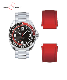 Nautica Men's Stainless Steel Strap Watch NAD01352G with Interchangeable Red Silicon Strap Price Philippines