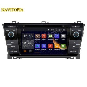 Harga NAVITOPIA 1024*600 Quad Core 16G 7 Inch Pure Android 5.1.1 Car DVD Player for TOYOTA Corolla 2013- GPS Navigation Newest Radio - intl