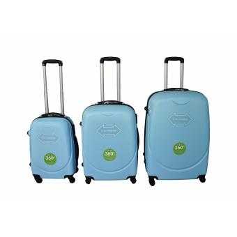 "Expander Hard Case Travel Luggage F-8011 set of 3 size (20""/24""/28"") Sky Blue Price Philippines"