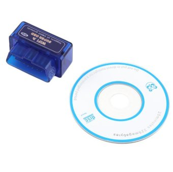 Harga Mini ELM327 WiFi ELM 327 OBDII Car Diagnostic Tool OBD2 Code Reader Scanner For IOS Android ELM WiFi 327 -Blue