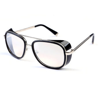 Harga Iron Man 3 Matsuda RAY TONY Sunglasses Men Rossi Coating Sungalss Man Vintage Brand Designer Sun glasses (White) - Intl