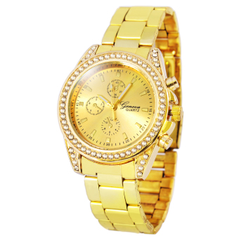Harga Geneva Miley Stainless Steel Watch BUS101 (Gold)