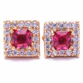 Jewelworld Bangkok 18k Ruby Zircon Earrings (gold) Price Philippines