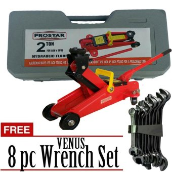 Harga Prostar Floor Jack 300 mm Max Lift with Blown Case & Free Venus 8 Pc Wrench Set