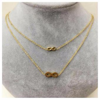 Harga Zea Store Infinite Layered Infinity Chain Necklace (Gold)