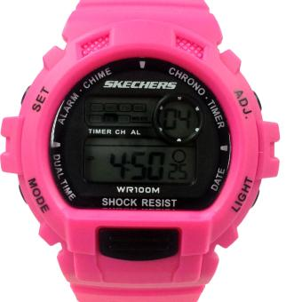 Harga Skechers Complex Color Pink Yellow Polyurethane Strap Watch 71113